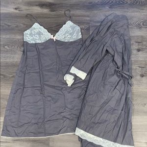 Sleep gown and matching robe